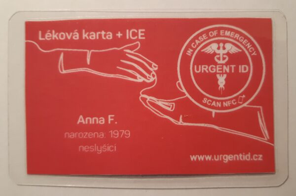 F - chytrá karta URGENT ID