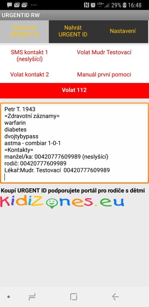 URGENT ID 3.0 - čtení načteno